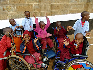 Work alongside Kenyan teams to help children with disabilities