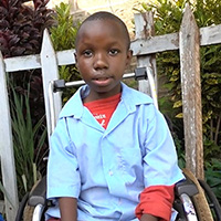 A wheelchair has changed Kelvin's life.